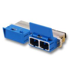 SC Duplex SM Adapter (with shutter)